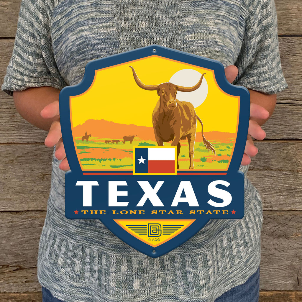 Metal Emblem Sign: SP Texas