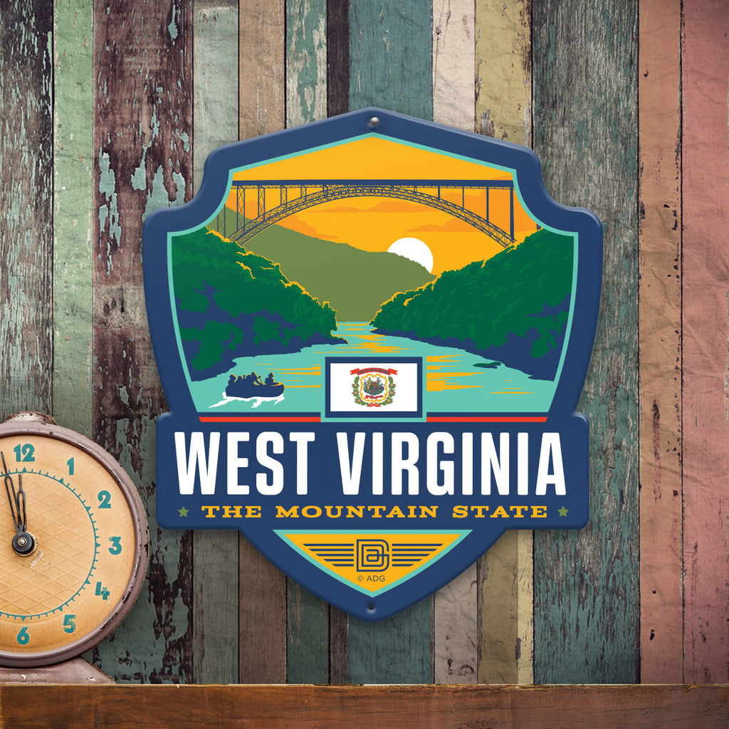 Metal Emblem Sign: SP West Virginia