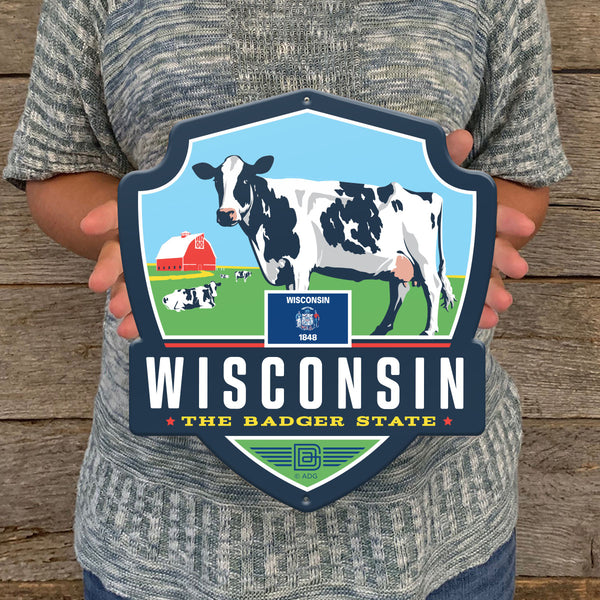 Metal Emblem Sign: SP Wisconsin