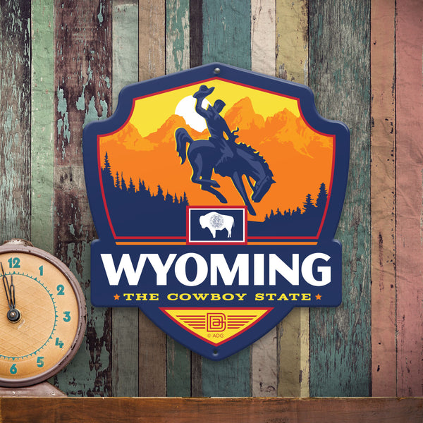 Metal Emblem Sign: SP Wyoming