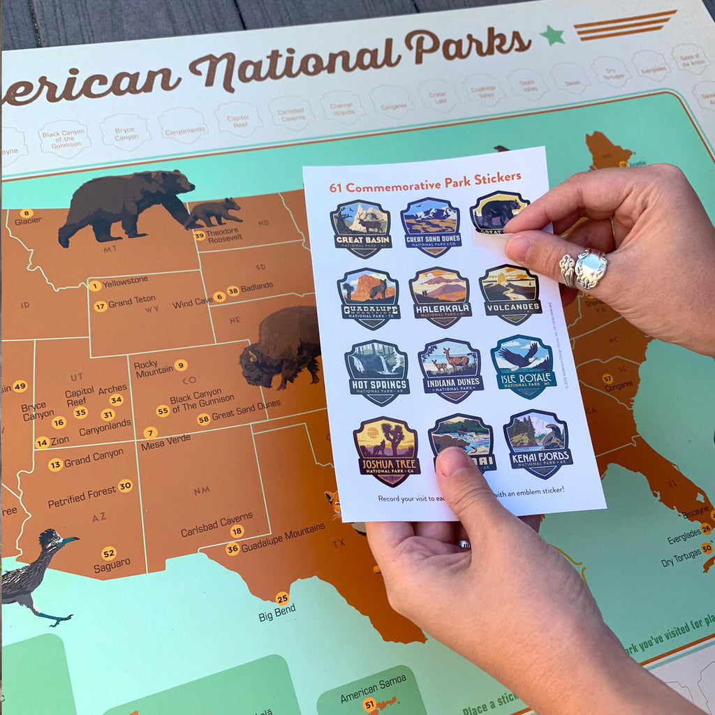 61-Park National Parks Sticker Map