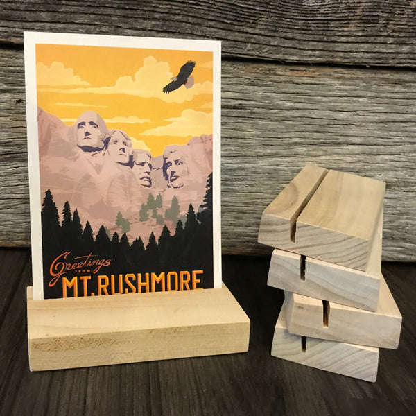 Wood Block Postcard Stand: Set of Five (Buy 4, Get One FREE!)