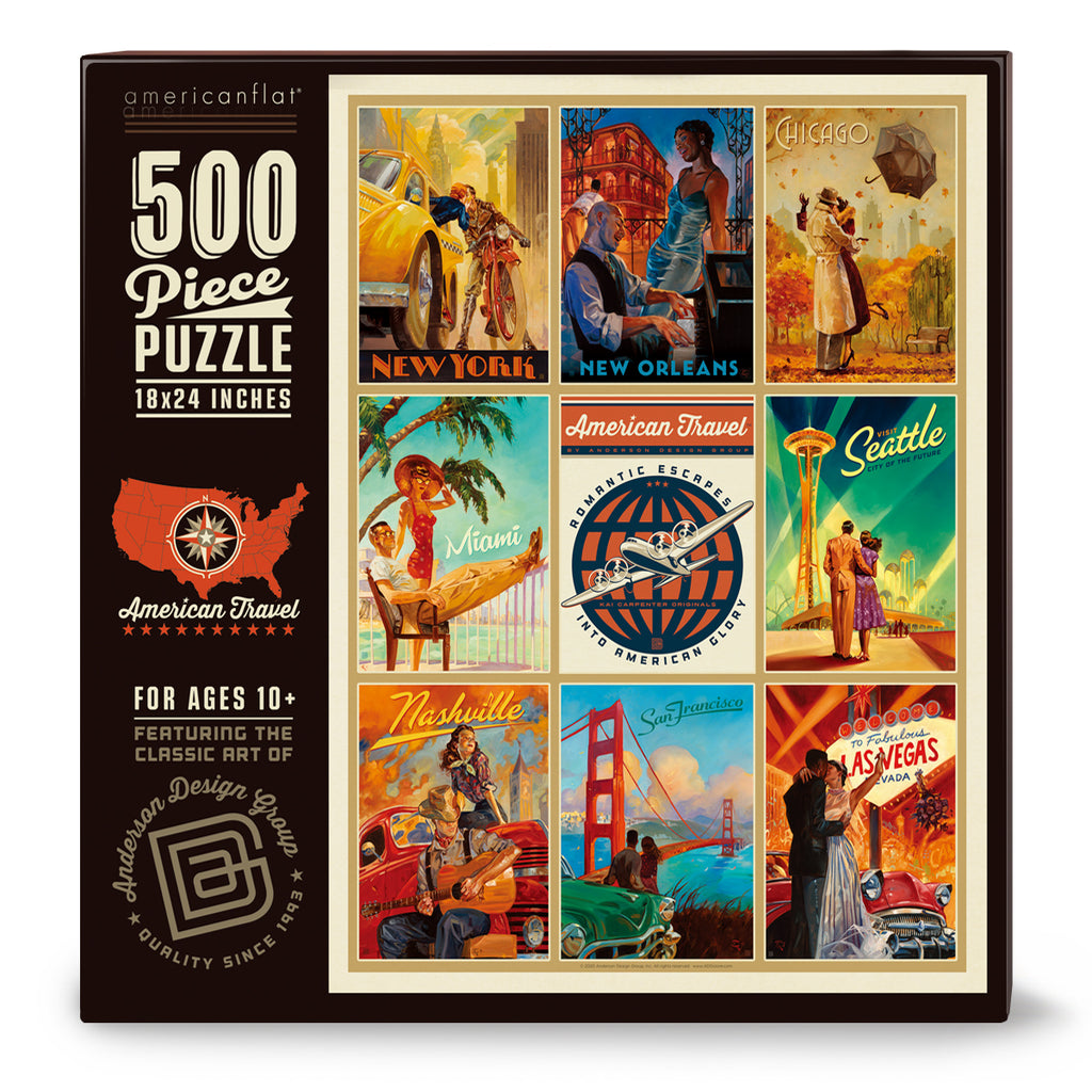 500-Pc. Puzzle: American Travel by Kai Carpenter