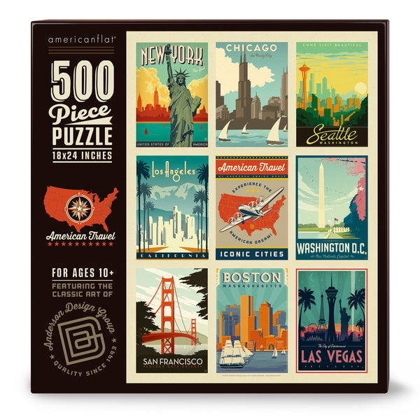 500-Pc. Puzzle: American Travel: Iconic Cities (Bargain—50% OFF!)