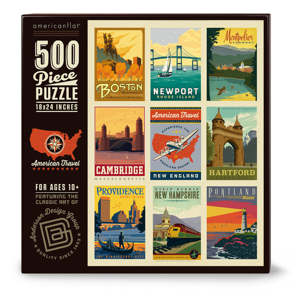 500-Pc. Puzzle: American Travel: New England (Bargain—35% OFF!)