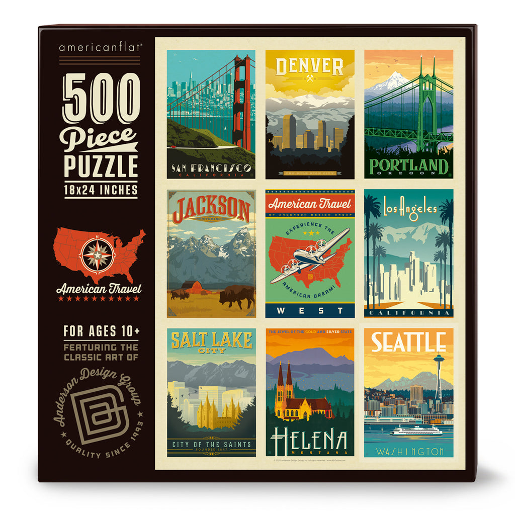 500-Pc. Puzzle: American Travel: West