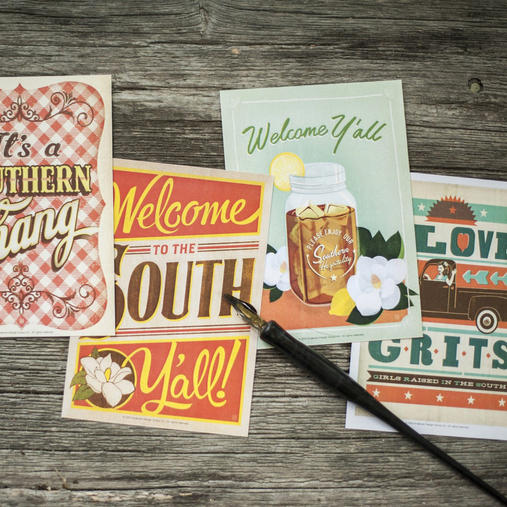 Southern Delight: 22-piece Postcard Set