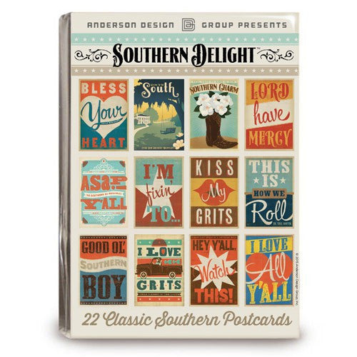 22-piece Southern Delight Postcard Set