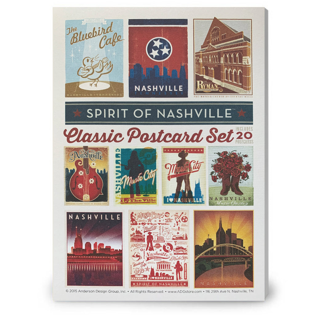 Spirit of Nashville 20 Pc. Postcard Set