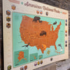 STICKER MAP: 61 National Parks (Bargain—40% OFF!)