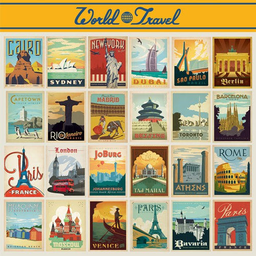 World Travel: 24-piece Postcard Set