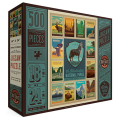 500-Pc. Puzzle: 60 National Parks Multi-Image (5 of 5: Wolf)