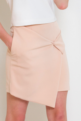 Peach Nude High Waist Wrap Skirt, Bottom, MECS label, MECS label