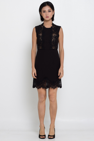 Premium Black Lace Sheath Dress, Dress, MECS label, MECS label