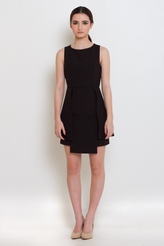 Classic Black Flap Dress, Dress, MECS label, MECS label