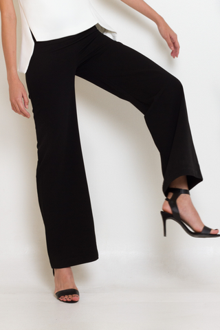Black High Waist Wide Leg Trousers, Bottom, MECS label, MECS label