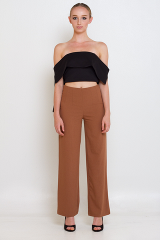 Black Off The Shoulder Crop Top, Top, MECS label, MECS label