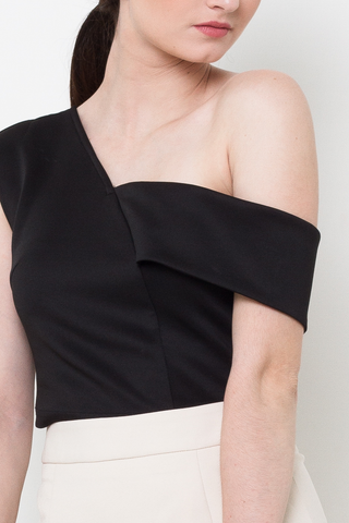 Black Togo Crop Top