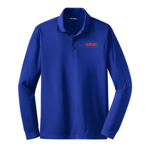 Long Sleeve Sport-Wick Polo in Royal