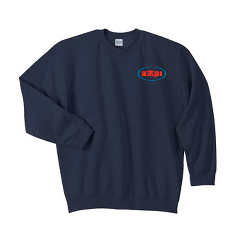 Blended Crewneck Sweatshirt in Navy