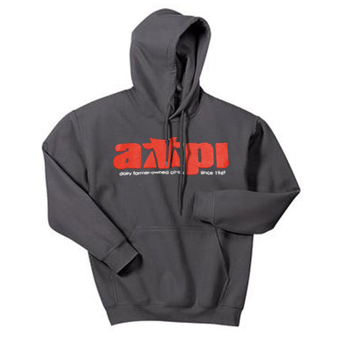 Blended Hooded Sweatshirt in Charcoal - Imprinted