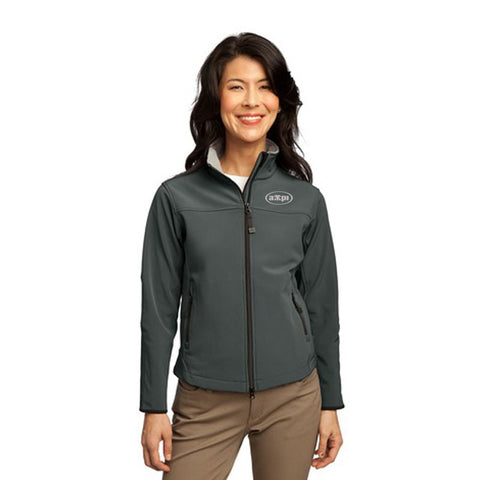 Ladies Glacier® Soft Shell Jacket in Smoke Gray