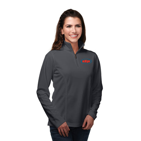 Ladies Wicking Pullover in Charcoal