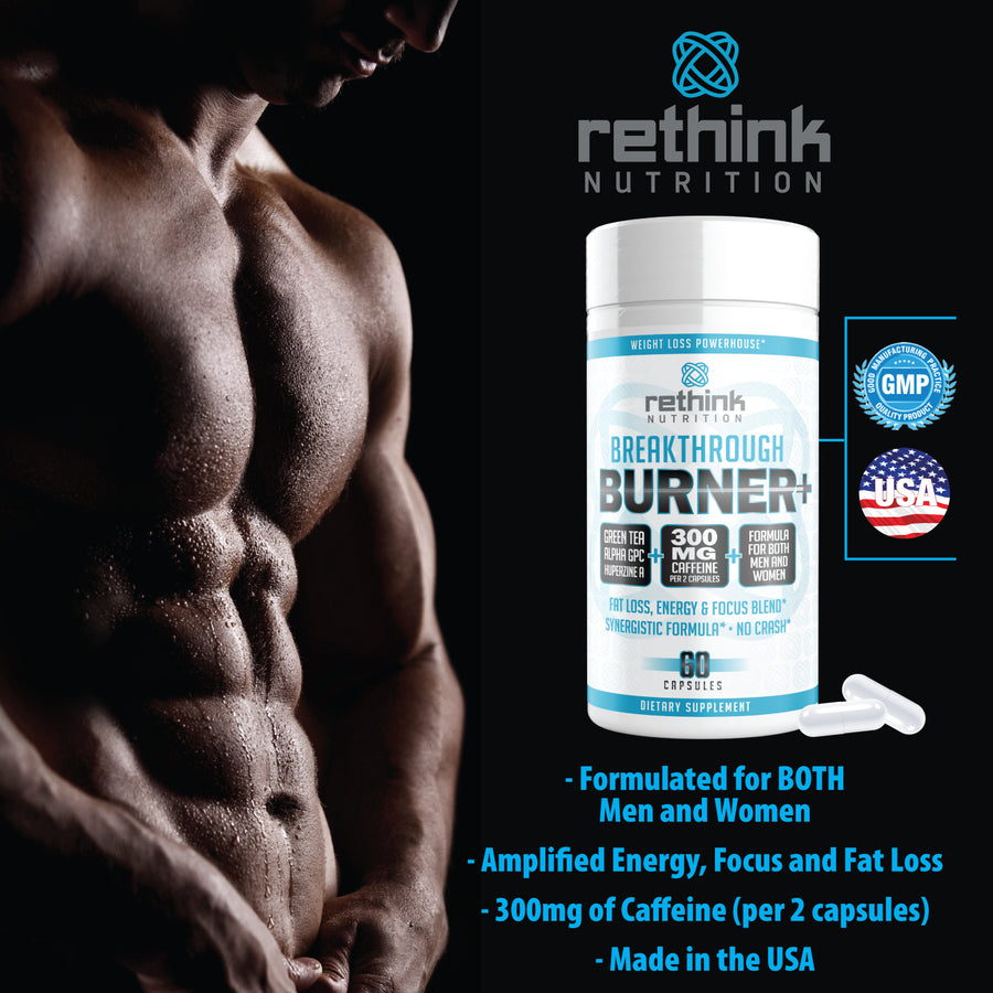 Rethink Nutrition Burner+ - 60 Capsules - Free - Rethink Nutrition
