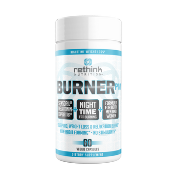 Burner PM - Nighttime Fat Loss, Sleep and Relaxation Formula, 60 Veggie Capsules - Rethink Nutrition