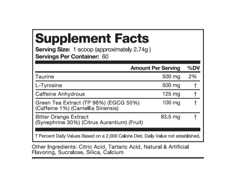 Breakthrough - Energy & Fat Loss Aid - 60 Servings, Peach Mango Flavor - Rethink Nutrition