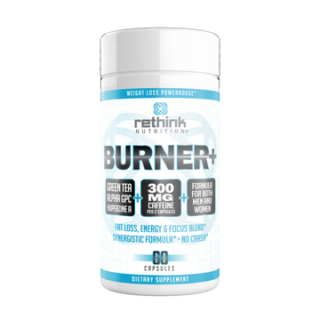 Burner+ - Energy, Focus & Fat Loss Formula, 60 Capsules - Rethink Nutrition