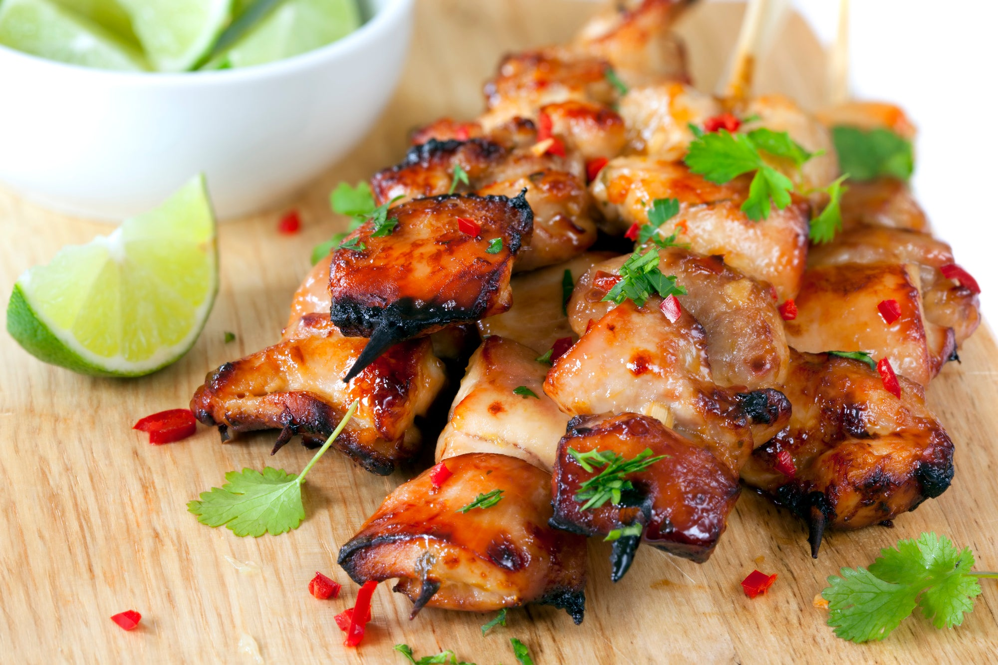 Ginger Chilli & Lime Chicken Skewers