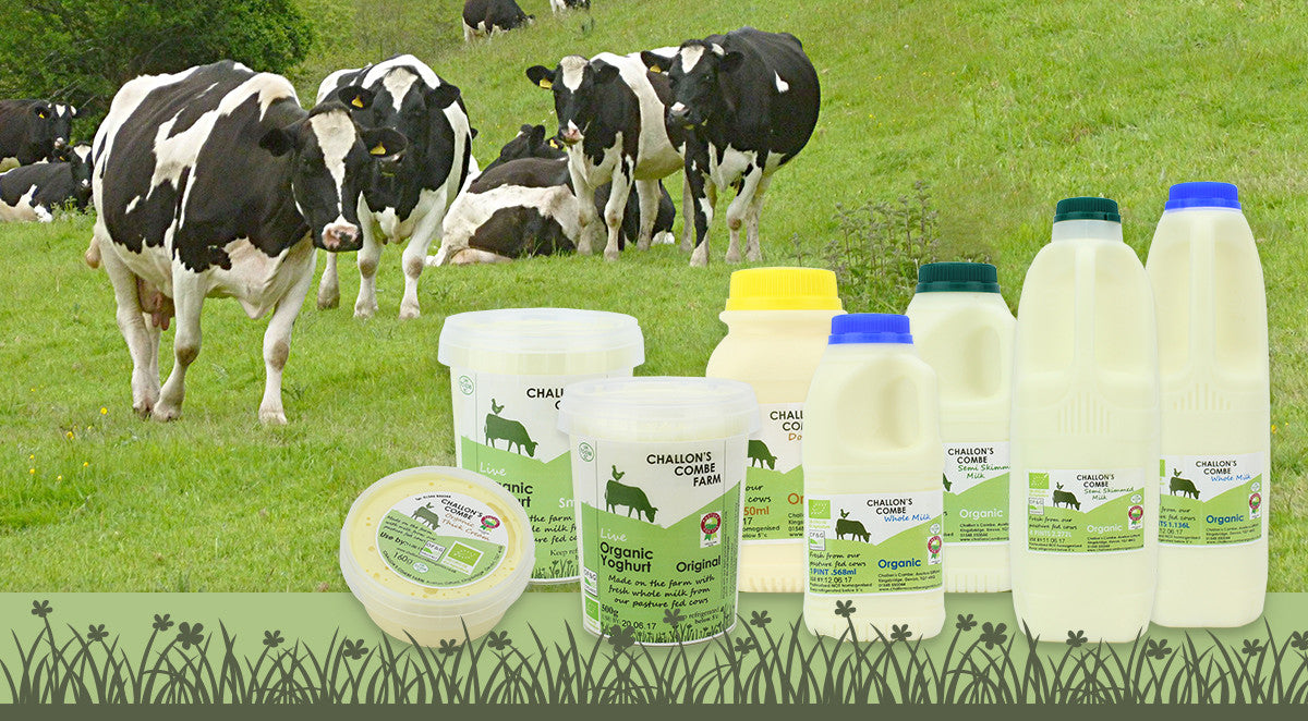 challons combe organic dairy products in devon