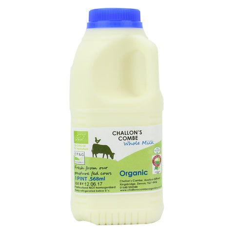 challons combe whole milk 1 pint