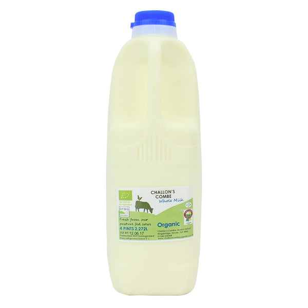challons combe whole milk 4 pint