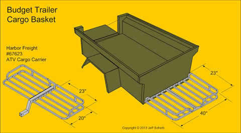 M416 Trailer Harbor Freight Cargo Basket