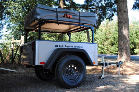 Compact Camping Trailer Build at Home with Roof Top Tent Jeep Trailer by Dinoot