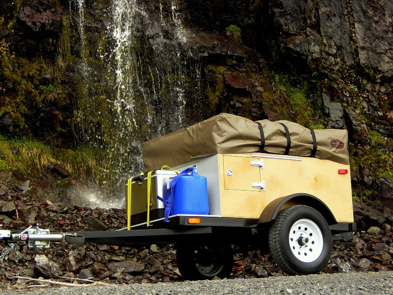 Explorer Box Camping Trailer DIY Compact With Roof Top Tent Closed