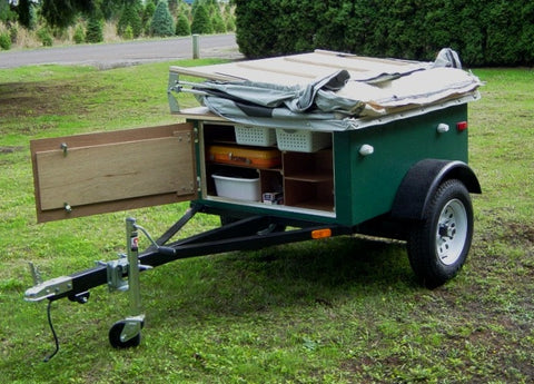 Compact Camping Trailer Build at Home with Roof Top Tent Front Storage