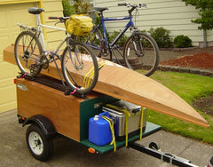 Explorer Box Camping Trailer DIY Compact Camping Trailer with kayak and bikes