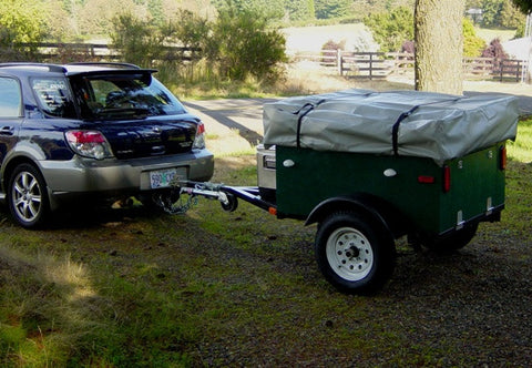 Compact Camping Trailer Build at Home with Roof Top Tent Subaru Tow