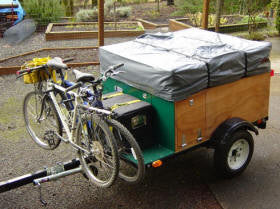 Compact Camping Trailer Build at Home with Roof Top Tent Bike Racks