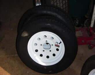 13 Tire and Wheel Combo - Compact Camping Trailer Frame Parts