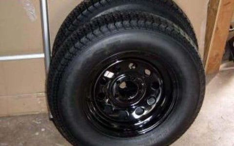15 Tire and Wheel Combo - Compact Camping Trailer Frame Parts