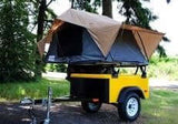 FrontRunner Roof Top Tent On Jeep Trailer - Compact Camping Trailers