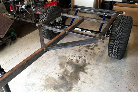 Trailer Frame Welded Drawings Make your own frame for a Jeep or Dinoot Trailer - Compact Camping Trailers