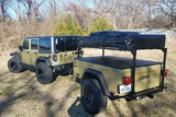 Jeep Trailer Dinoot With Roof Top Tent - Compact Camping Trailers