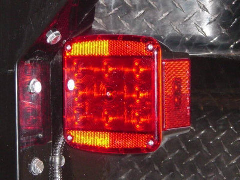 Trailer Lighting Square LED Tail Light Pair - Compact Camping Trailers