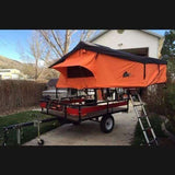 Camping Tent Roof top Tent Autana Ruggedized RTT Orange - Compact Camping Trailers