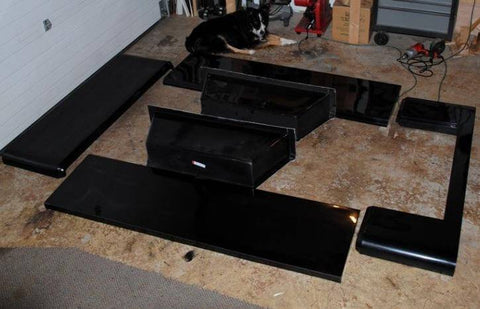 Jeep Trailer J Series Tub Kit Components - what panels you get in your kit